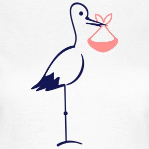 Storch mit Bündel / stork with bundle (2c) T-Shirts - Frauen T-Shirt