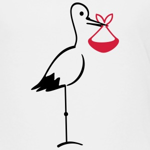 Storch mit Bündel / stork with bundle (2c) T-Shirts - Kinder Premium T-Shirt