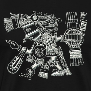 Maya God, Mexico, Warrior, DD T-shirts - Herre premium T-shirt
