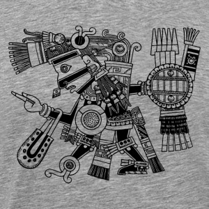 Maya God, Mexico, Warrior, DD T-Shirts - Men's Premium T-Shirt