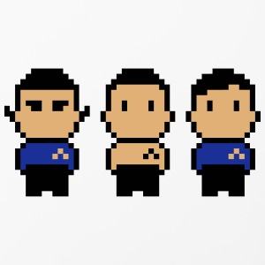 8bit Star Ship Captain, Science Officer and Doctor Phone & Tablet Cases - iPhone 4/4s Hard Case