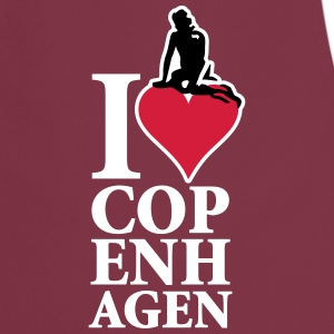 I_Love_Copenhagen_3ca15_on-red  Aprons - Cooking Apron