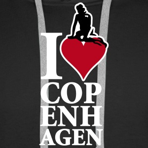 I_Love_Copenhagen_3ca15_on-red Hoodies & Sweatshirts - Men's Premium Hoodie