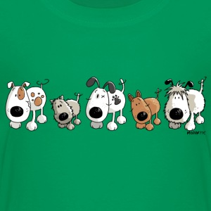 Funny Dogs - Dog - Doggy- Cartoon Shirts - Kids' Premium T-Shirt