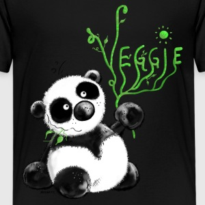 Veggie Panda- vegetarian - vegetable - Cartoon Shirts - Teenage Premium T-Shirt