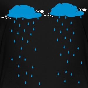 Regen / Scheiß Wetter / rain raining wolke cloud 2 Shirts - Teenage Premium T-Shirt