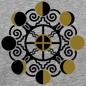Moon Phases & Earth - Symbol change is stability T-shirts - Herre premium T-shirt