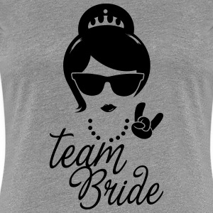 Team Bride Wedding Bridesmaids Stag Hen night do T-Shirts - Women's Premium T-Shirt