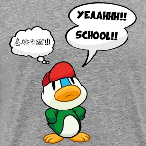 Cartoon duck, school - no school, bad school T-Shirts - Men's Premium T-Shirt