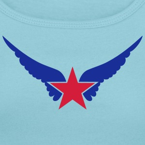 Hero Star, Wings, Superhero, Comic, Style, Cartoon Magliette - T-shirt scollata donna