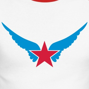 Hero Star, Wings, Superhero, Comic, Style, Cartoon Maglie a manica lunga - Maglia da baseball a manica lunga da uomo
