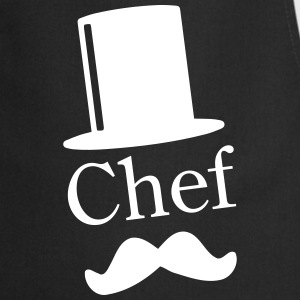 Like a Chef / Like a Sir / Mustache / Moustache 1c Kookschorten - Keukenschort