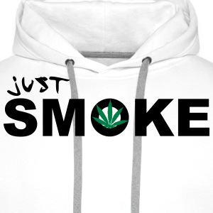 Just Smoke /  / Weed / Cannabis / Drogen 2c Sweat-shirts - Sweat-shirt à capuche Premium pour hommes