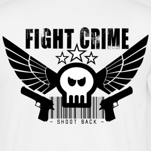 Weiß skull_fight_crime shoot back - www.crazy-shirt-shop.de T-Shirts - Männer T-Shirt