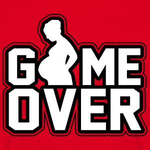Pregnant - Game Over T-shirts - Mannen T-shirt