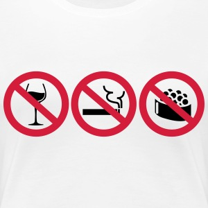Pregnant - No alcohol, no smoking, no sushi T-skjorter - Premium T-skjorte for kvinner