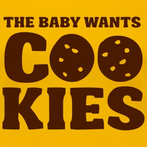 The baby wants cookies T-shirts - Vrouwen Premium T-shirt