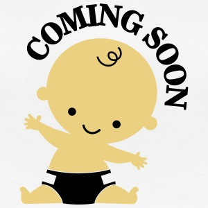 Baby - Coming Soon T-shirts - Dame premium T-shirt