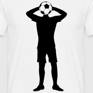 Header football player  T-Shirts - Men's T-Shirt