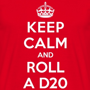 Keep calm and roll a d20 - Herre-T-shirt