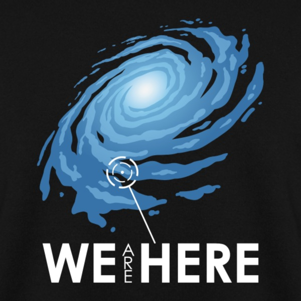 Black we are here Hoodies & Sweatshirts - Men's Sweatshirt