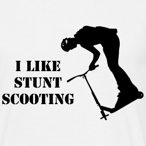 Stunt Scooter Scoot Rider in Action Teamrider  T-Shirts - Männer T-Shirt
