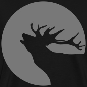 Deer Reindeer Christmas sun moon shadow 1c T-Shirts - Men's Premium T-Shirt