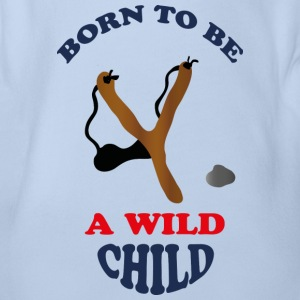 Wild child by Lola T-Shirts - Baby Bio-Kurzarm-Body