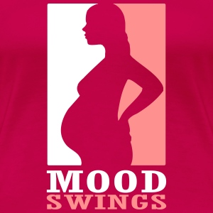 Pregnant - Mood Swings T-shirts - Dame premium T-shirt