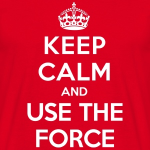 Keep calm and use the Force (Star Wars) - Herre-T-shirt