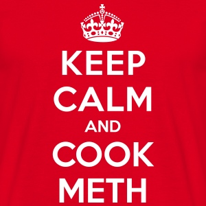 Keep calm and cook meth (Breaking Bad) - T-shirt herr