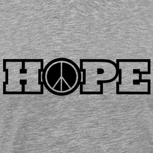 Heather grey hope of peace T-Shirts - Men's Premium T-Shirt