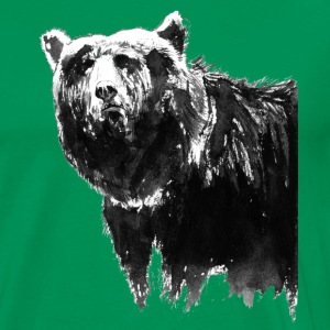 bear black & white - T-shirt Premium Homme