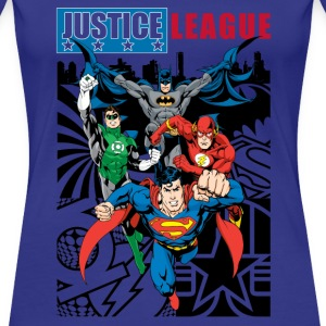 Justice League Comic Cover T-Shirt für Frauen, Superhelden T-Shirt - Frauen Premium T-Shirt