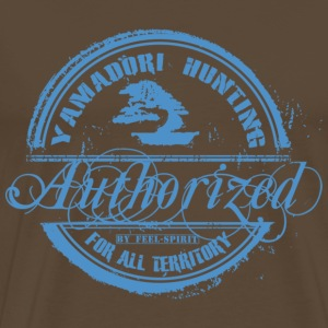 Tampon Yamadori Hunting Authorized - Men's Premium T-Shirt