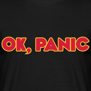 Ok, panic (The Hitchhiker's Guide to the Galaxy) - T-skjorte for menn