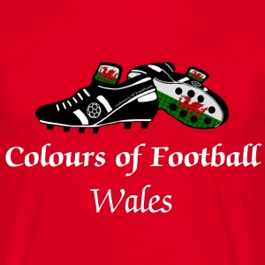 Football Colours of Wales Dragon style  - Men's T-Shirt