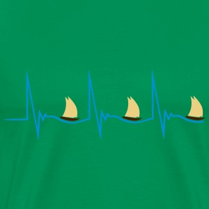 Sailing Heartbeat T-Shirts - Men's Premium T-Shirt