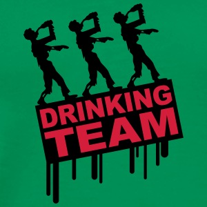 Drunken Party Zombies Drinking Team T-Shirts - Men's Premium T-Shirt