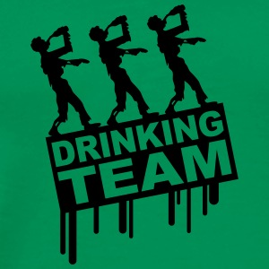 Drunken Party Zombies Drinking Team Magliette - Maglietta Premium da uomo