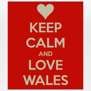 Women's Keep Calm And Love Wales T-Shirt - Women's Premium T-Shirt