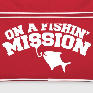 on a FISHIN (Fishing ) MISSION! with a fish hook Bags & backpacks - Retro Bag