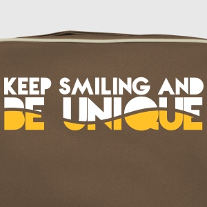 KEEP SMILING and be UNIQUE original awesome design Bags & backpacks - Retro Bag