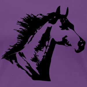 Beautiful Horse Head T-shirts - Dame premium T-shirt
