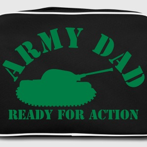 ARMY DAD (with tank) ready for ACTION! Bags & Backpacks - Retro Bag
