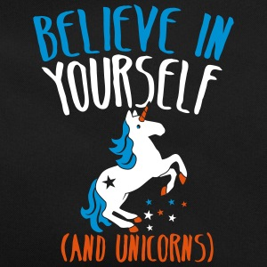 BELIEVE in yourself (AND UNICORNS) rough  Bags & Backpacks - Retro Bag
