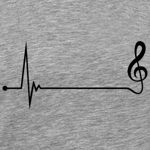 Music Pulse Heartbeat Clef T-shirts - Mannen Premium T-shirt