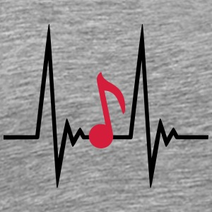 Music Note Pulse T-shirts - Premium-T-shirt herr
