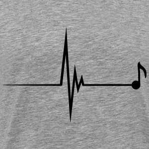 Heartbeat Music Note Pulse T-shirts - Herre premium T-shirt