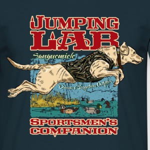 jumping_labrador T-Shirts - Men's T-Shirt